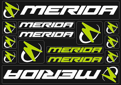 Kit n18 stickers prespaziati bike Merida with application Brand 3m coloured logo!
