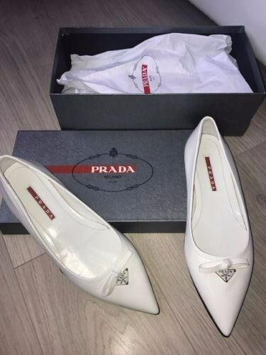 Scarpe DI PRADA Piatto Bianco