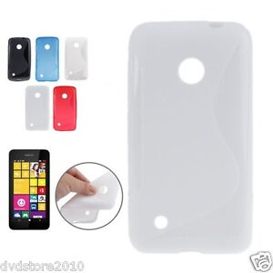 Custodia-WAVE-S-Line-per-Nokia-Lumia-530-RM-1019-Cover-Morbida-Gomma-Gel-Silicon