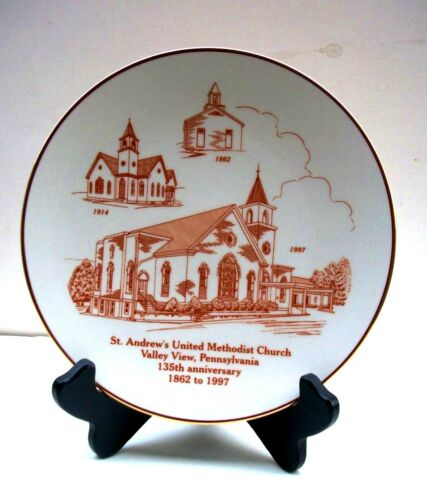 Valley View PA St. Andrew's United Methodist Church 135th Anniversary Plate 1997