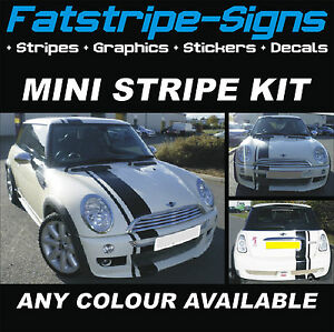 Mini Bonnet Stripes Car Graphics Stickers Decals Cooper One Jcw D