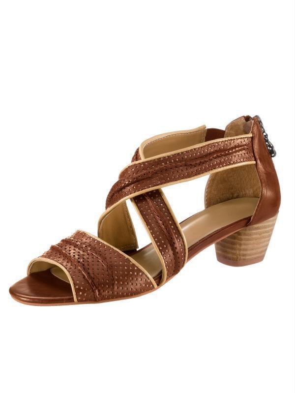 Scarpe Scarpe Donna Sandali Sandali Pelle GERRY WEBER Tg. 36 (3,5) WG