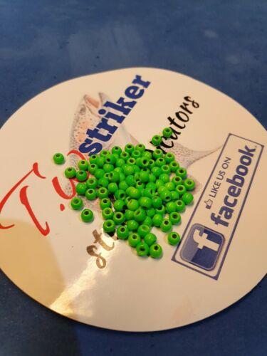 3.8mm brass beads green  x100 fly tying materials