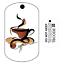 pour geocaching-traçable tag-oléfines travel bug Café voyage tag