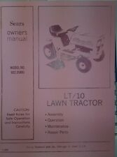 Sears Murray LT/10 Lawn Tractor 502.25891 Owners, Parts, Deck, Engine Manual 32p