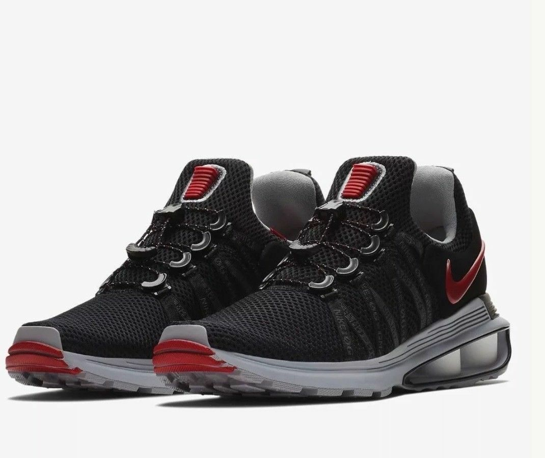 Nike Men's Running shoes SHOX Gravity Black Red shoes (AR1999 016) - Size 110.5