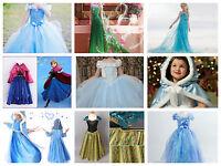 Frozen Disney Princess dress up Cinderella Elsa/Anna Costume Party Fancy Dresses