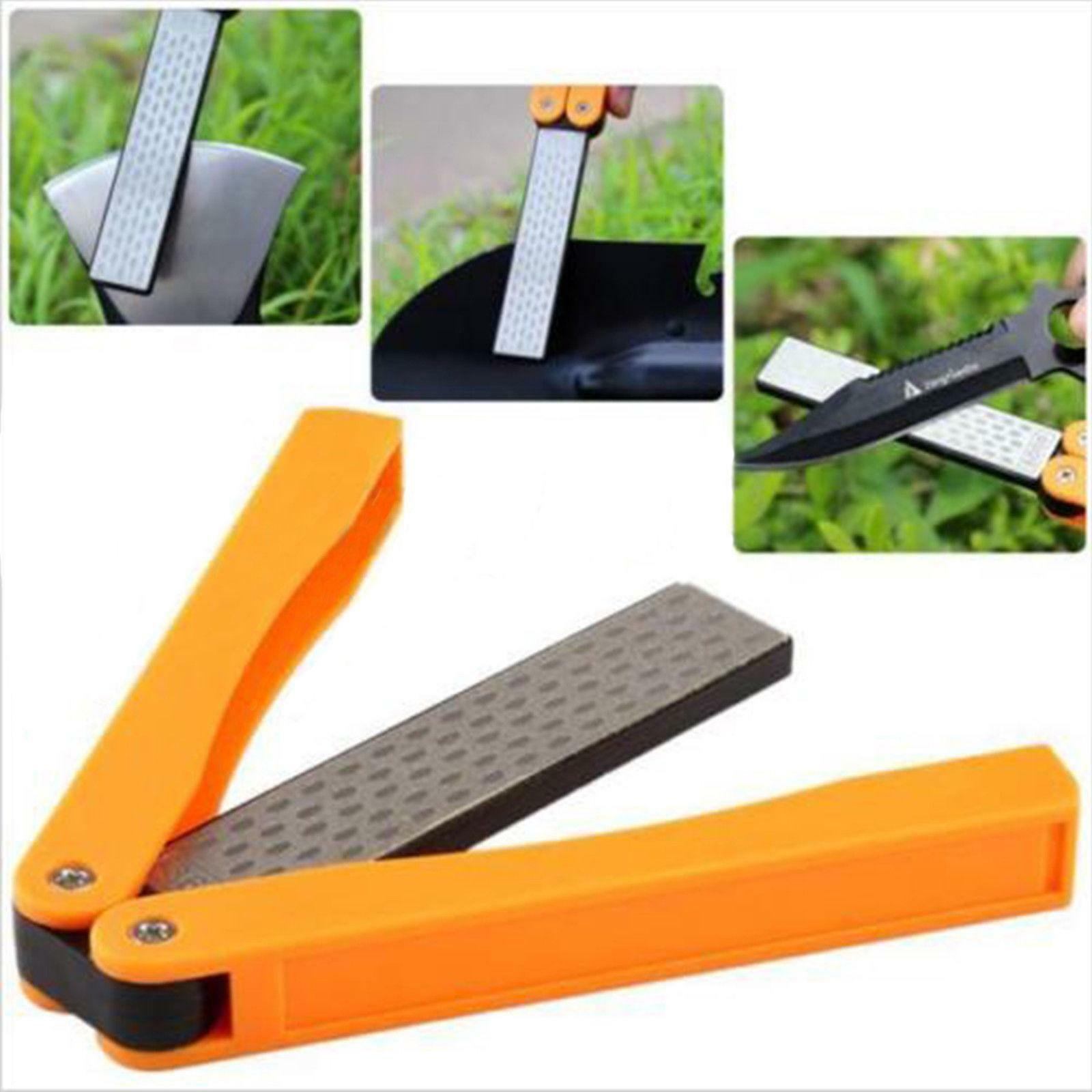 Amazing Sharpener Gadget Double Sided Fold Portable Pocket Camping Travel Gift
