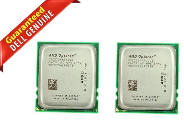 Lot 2 Dell AMD Opteron 2373 EE 2.10GHz Quad Core Processor F321T OS2373NAP4DGI