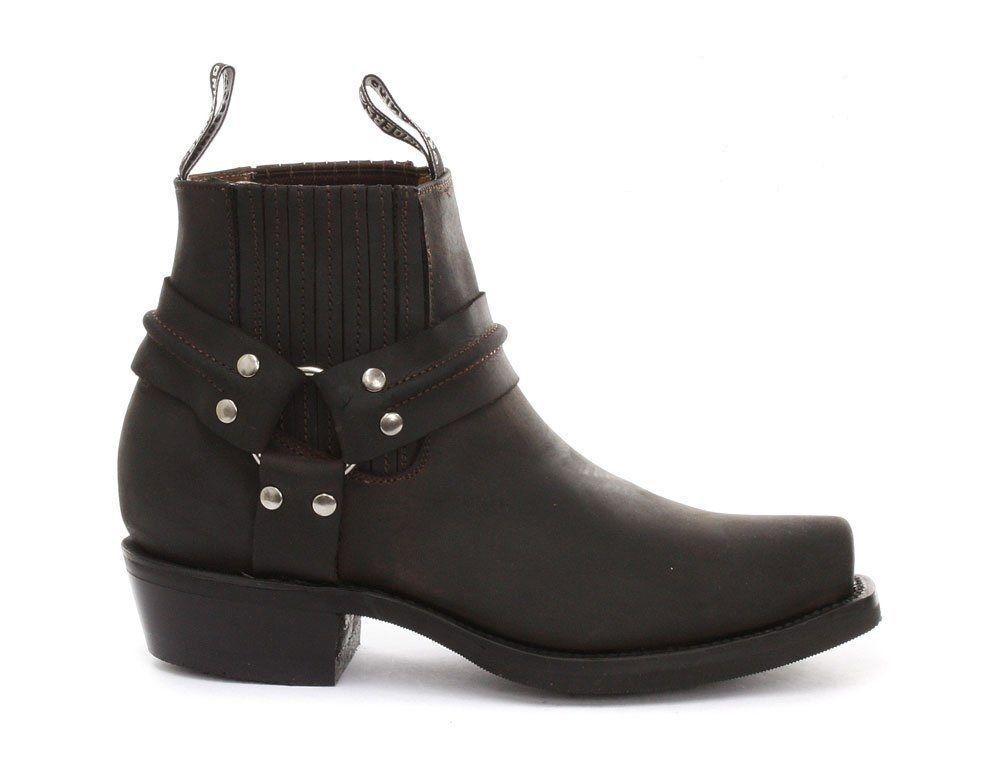 Molinillos señoras de cuero marrón vaquero occidental renegado lo Sin Sin Sin Cordones botas puntiagudo  descuento de bajo precio