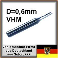 5 unid braguitas. VHM taladro 0,5mm diámetro 18xd, metal duro F. MCA, etc., F. Dremel