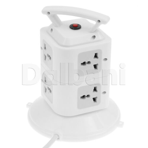 Power strip with USB Surge Protector 7 Outlet 2 USB Ports White