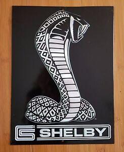 Metal Shelby Cobra Decor Plaque Display Snake Logo Emblem Auto Car
