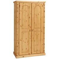 Pine Furniture Canterbury Full Hanging Wardrobe Antique Wax No Flat Packs