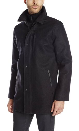 Calvin Klein Men's Wool Car Coat Dress Coat Top Co