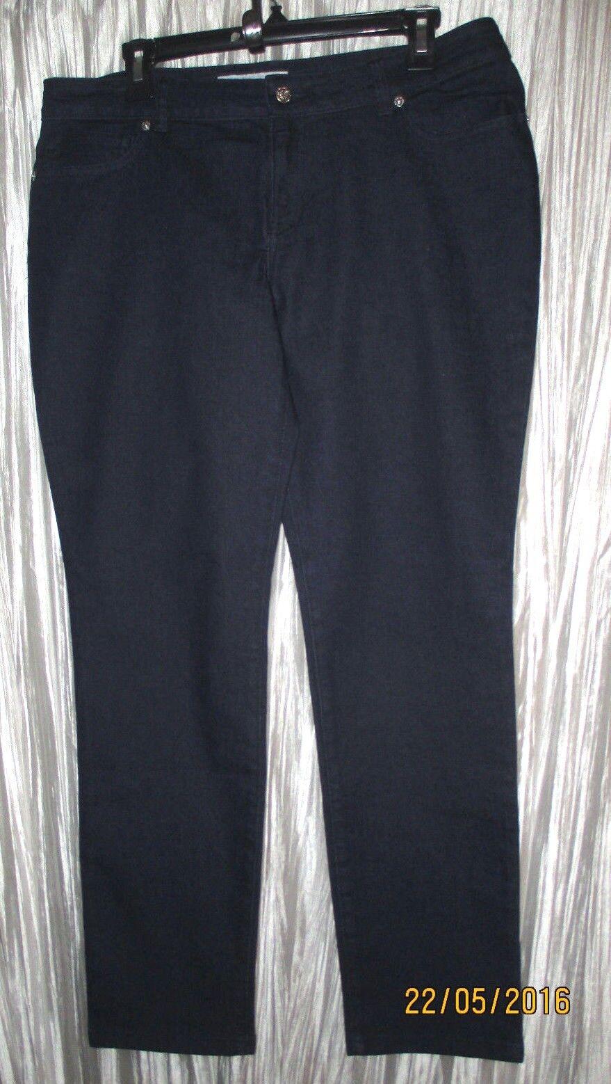New KENNETH COLE REACTION Cotton Poly Spandex, Dark Denim,Skinny Jeans,14 R