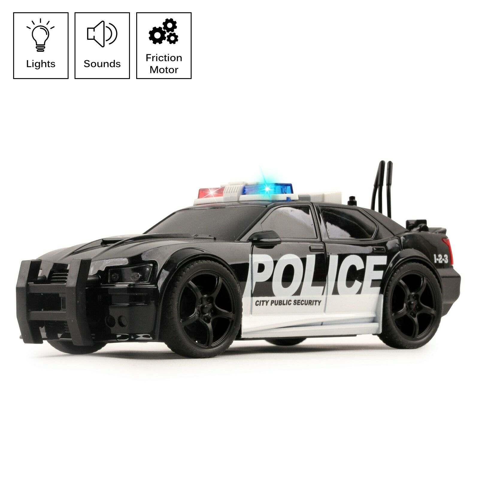 Dickie Toys Interceptor Police Car with lights and sounds