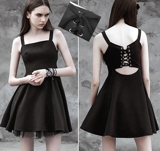 Robe cintré évasée gothique lolita fashion dos nu corset soirée sexy PunkRave