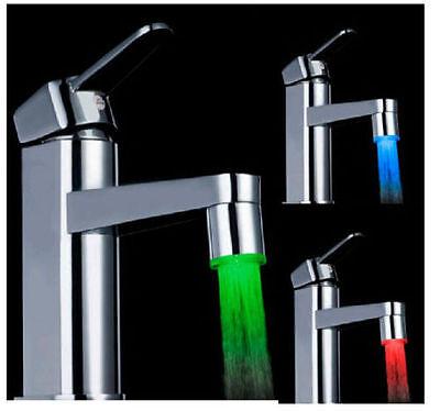Magical 3 Color Sensor LED Light Water Faucet Tap Temperature For Bathroom