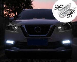 Fog Light Daytime Running Light Drl Led Day Light For Nissan Kicks