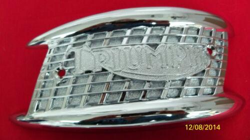 1956-65 NEW TRIUMPH TANK BADGE EMBLEM SET  82-4127//4128 MADE IN UK
