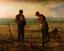 Oil painting Millet Husband and wife in the fields sown in sunset canvas 36""