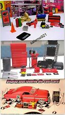 Car Show Accessories+ Mechanic+Garage Set Tools1:24 (G) Scale!