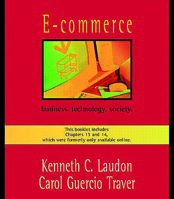 E-commerce: Business, Technology, Society by Kenneth C. Laudon (Hardback, 2001)