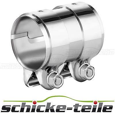 Auspuff Rohrverbinder Doppelschelle Universal 46-48 x 125mm Edelstahl Zement