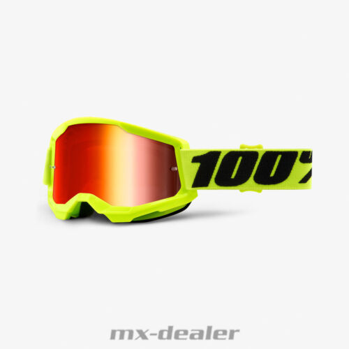 2021 100/% DE POURCENTAGE LUNETTES Strata 2 Fluo Jaune Neon Motocross Enduro alpin MTB