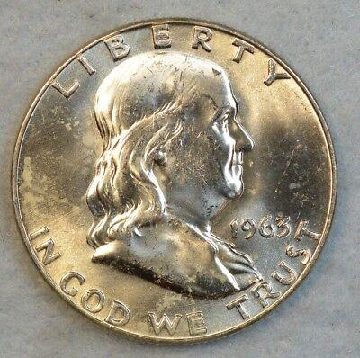 1963-D 50C Franklin Half Dollar UNC