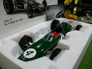 LOTUS-25-4-GP-F1-PAYS-BAS-1962-JIM-CLARK-1-18-SPARK-18S119-formule-1-miniature