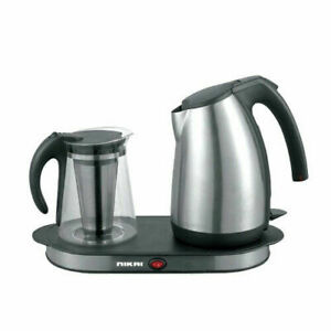 Nikai-NKT1730S-Stainless-Steel-Kettle-with-Tray-amp-Glass-Pot-220-240-Volt-50-Hz