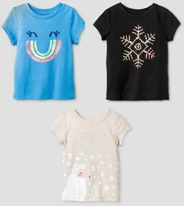 Llama Love Rainbow Cotton Short Sleeve T Shirts for Baby Toddler Infant