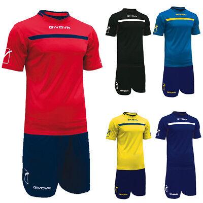 38af3d22b8b4c Kit Calcio Givova One Completo Maglia+Pantaloncino Calcetto Allenamento |  eBay
