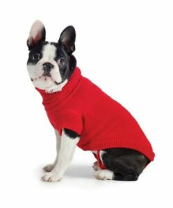 abd908fff Ancol Muddy Paws Poppy Red Cable Knit Dog Sweater Jumper Coat Jacket ...