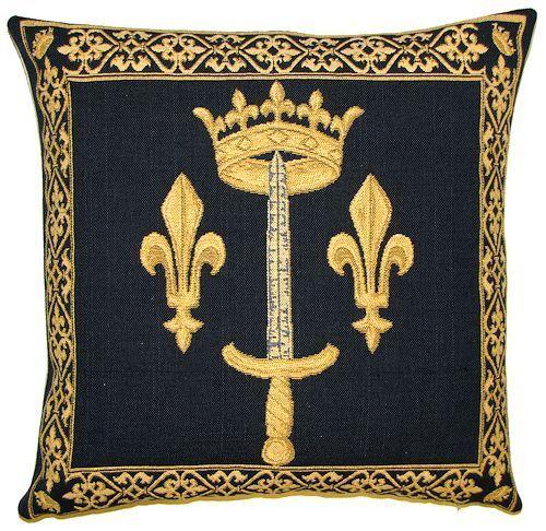 """Gobelin Regency Royal Crest belge tapisserie housses de coussin 19/"""" X 19/"""""""