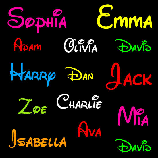 2 Personalised Words Boy Girl Name Decal Stickers Car JDM Laptop Door Wall Decor
