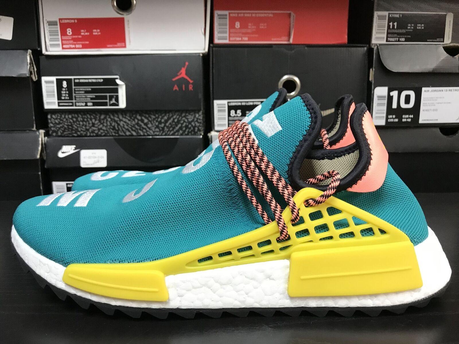 New Adidas Human Race NMD Pharrell Sun Glow Teal AC7188 Boost Size 14