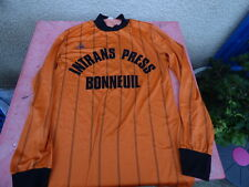 maillot de football vintage 80's  Le Coq Sportif orange 68cm x 47cm