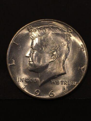 UNC. 1964 D Kennedy Silver half dollar