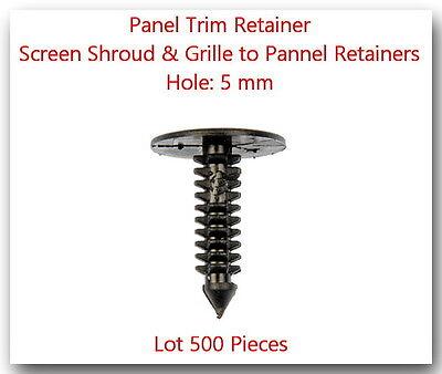"50 Black Nylon Push Type Retainer Clips 17//64/"" 6.5mm Hole GM 11589290"