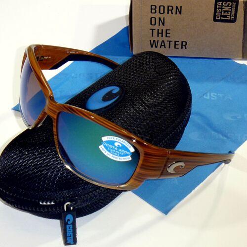 Costa Del Mar Luke Polarized Sunglasses-Wood//Green Mirror Glass 400G Lens  LK 81