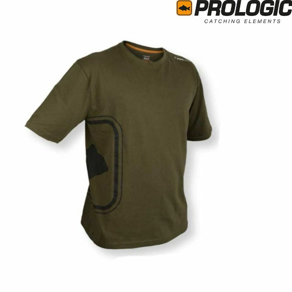 Prologic Road Sign T-Shirt Sage Green Short Sleeves Carp Fishing T Shirt