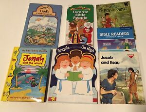 LOT-OF-7-BIBLE-STORY-BOOKS-MISC-SEE-TITLES-BELOW