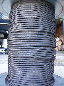"US Mil-Spec Double Braid Nylon rope, Black 1/4"" x 100' Quality line"