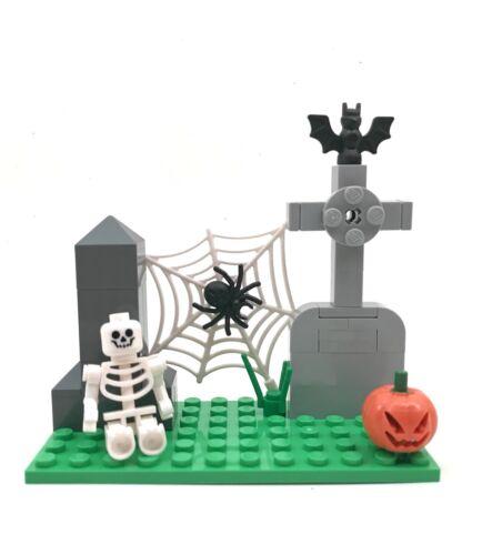 Small Halloween Custom Set Building Blocks Skeleton Zombie Decoration Scene