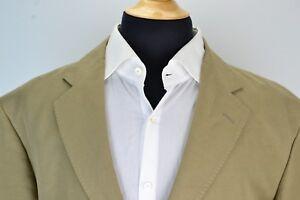 Brooks-Brothers-Khaki-Brown-Linen-Cotton-Blend-Sport-Coat-Jacket-Sz-XL