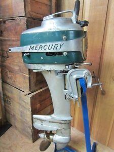 Antique kiekhaefer mercury mark 20 remote tiller outboard for Mercury boat motor parts on ebay