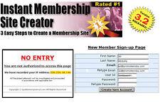 Membership Website Creator - Everything You Need to Create a Membership Site. CD